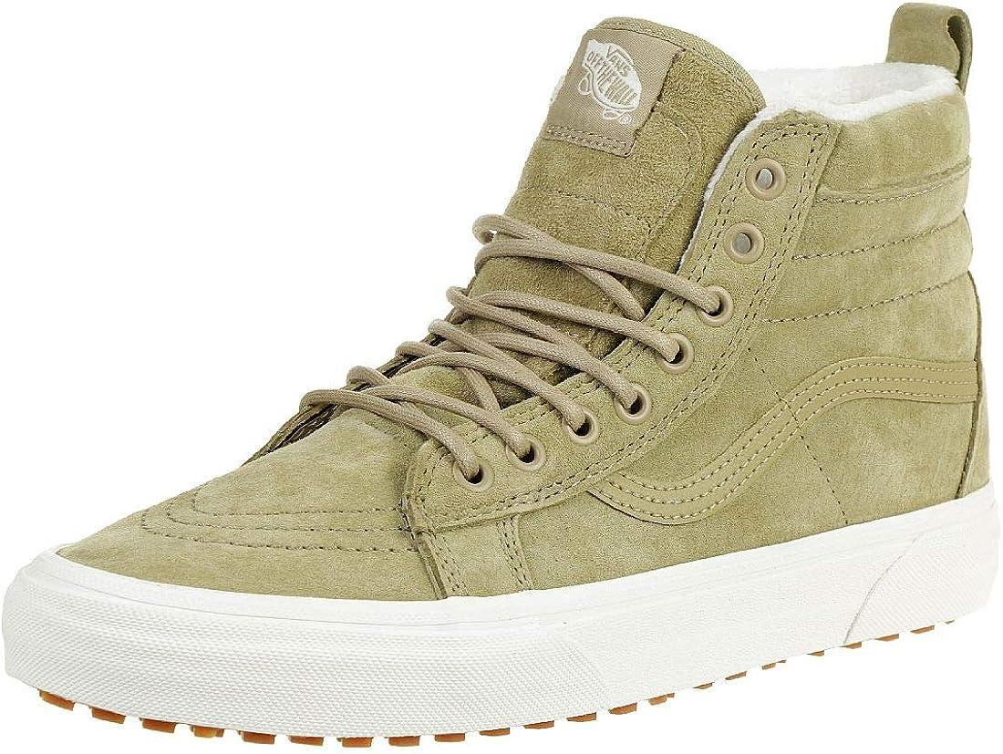 amazon com vans classic sk8 hi mte sneaker skate leather winterboots vn0a33txrj51 beige shoe size eur 37 shoes amazon com