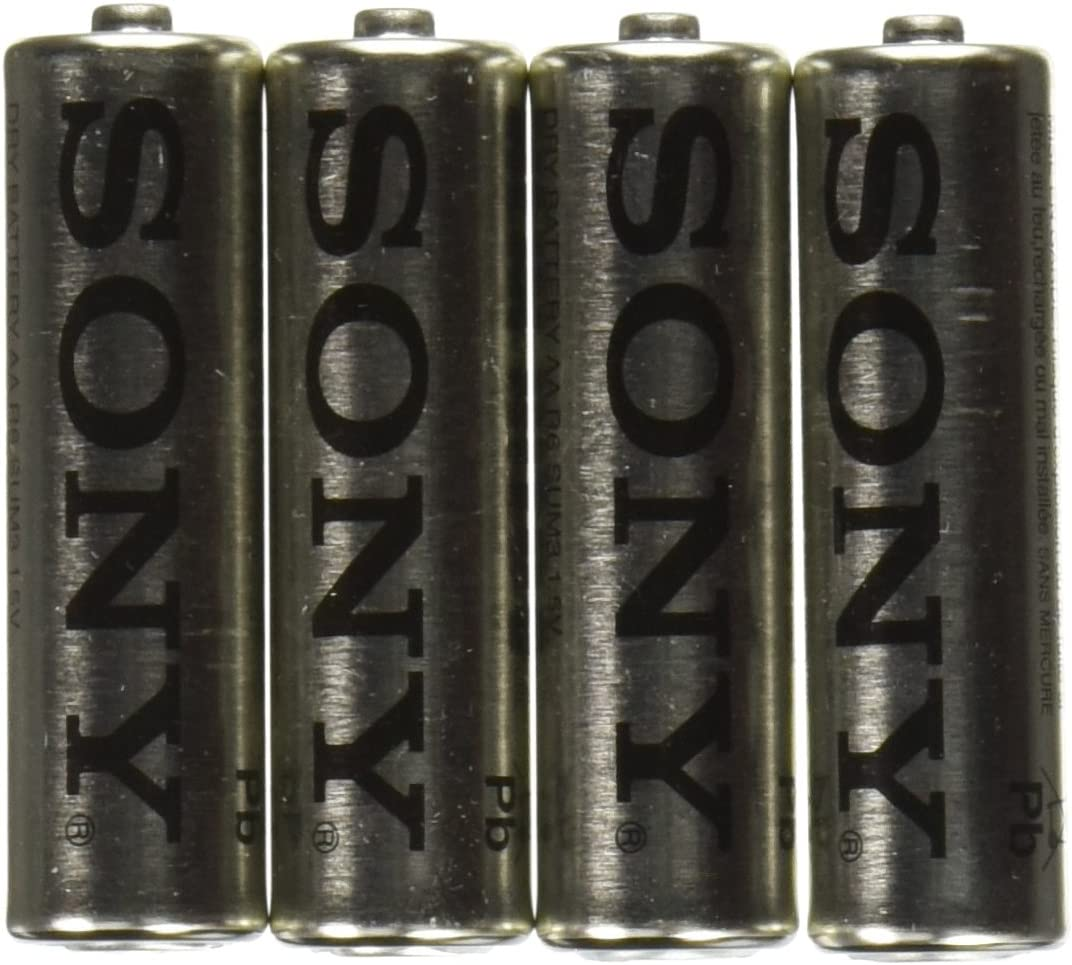 SONY S-SUM3NUB4A Heavy-Duty Carbon Zinc Batteries AA, 4 Pack