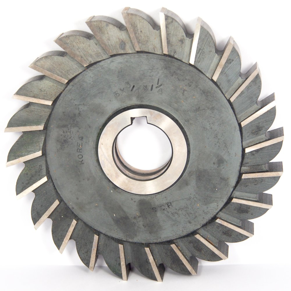 """Straight Tooth 6 x 5//16/"""" 1-1//4/"""" HSS Side Milling Cutter"""
