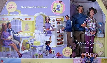 Barbie Happy Family GRANDMA'S KITCHEN & Grandparents Gift Set - 60+ Pieces  (2003)