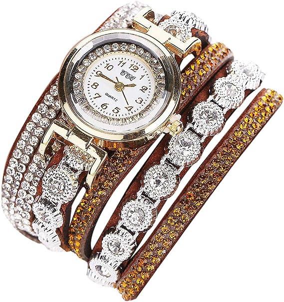 Reloj Pulsera Reloj De Pulsera Con Remache Relojes Mujer Moda Casual Cuarzo Reloj Para Damas Elegante Negocios Relojes De Pulsera Mujeres Jorich Marron Amazon Es Ropa Y Accesorios