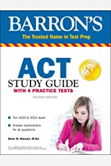 ACT Study Guide with 4 Practice Tests (Barron's Test Prep) Paperback
