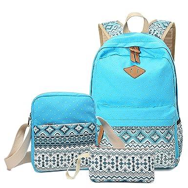 Amazon.com: Abshoo Canvas Dot Backpack Cute Lightweight Teen Girls ...