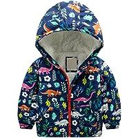 SKY-ST Little Girls Kids Winter Thick Warm Faux Lamb Wool Lined Jacket Coat Size 3-8T