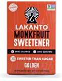 Lakanto Golden, Monkfruit Sweetener, 30 Count