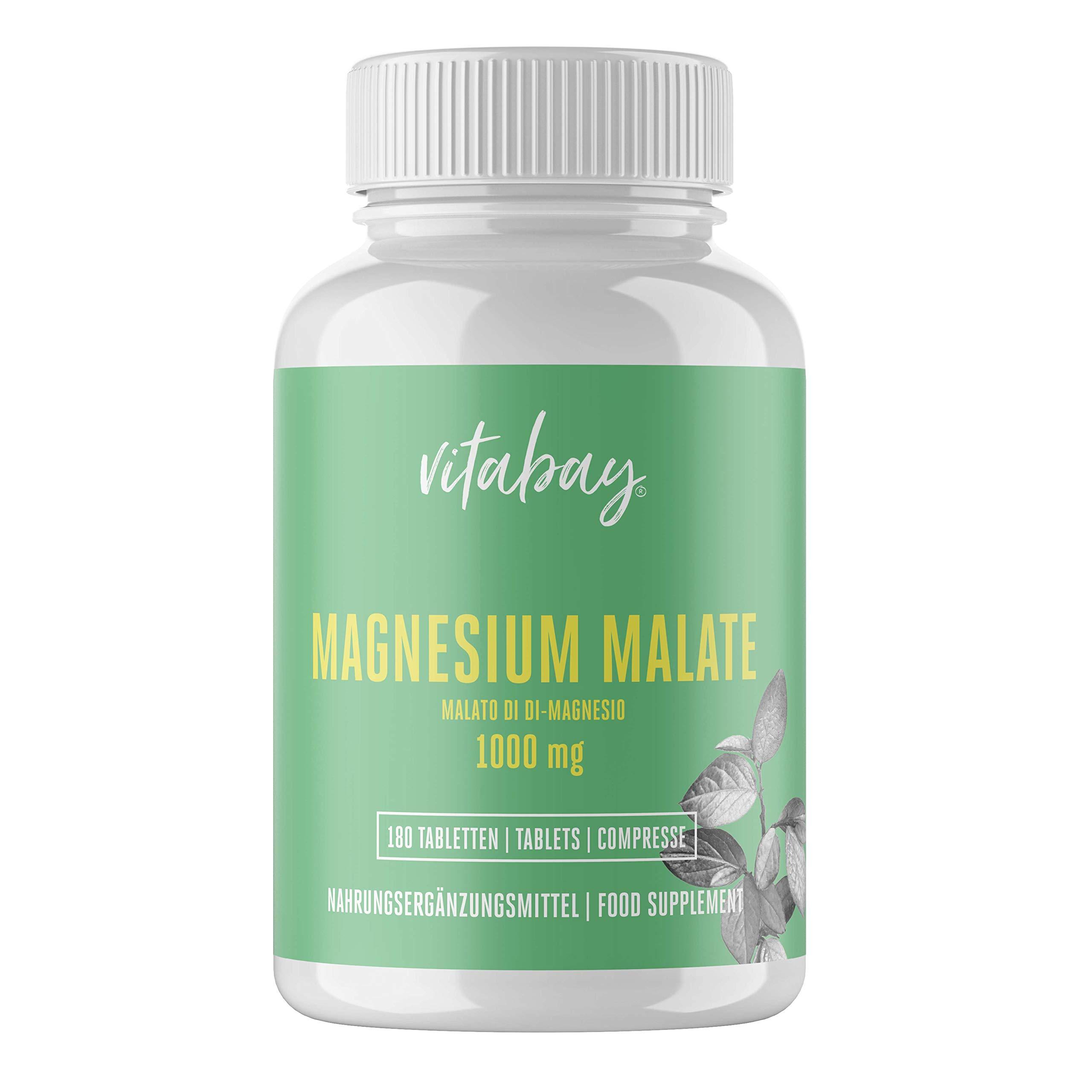 Magnesium Malate 1000 mg – 180 Vegan Tablets