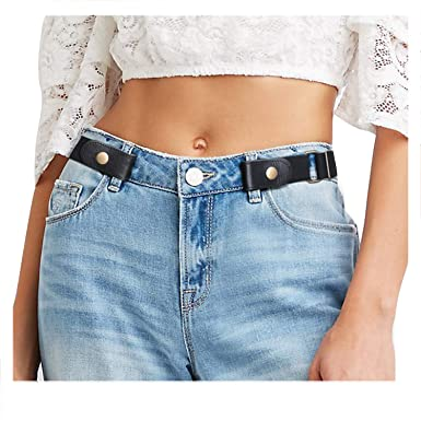 fb39c546729 JasGood No Buckle Invisible Elastic Belt for Women Men Young Old - Ladies