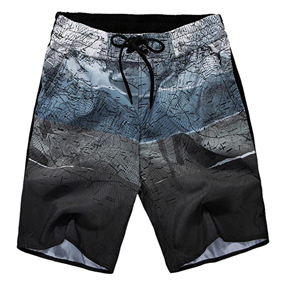 ZARLLE_ Pantalones Corto Pantalones Cortos De Carga para Hombre, Verano Deportes De Trabajo Casual Pantalones Cortos De Playa Impresos Bermuda Jogging ...