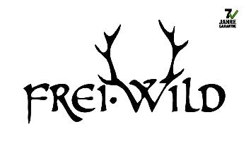 Freiwild Aufkleberheckscheiben Schwarz Ca 30x15cm 7