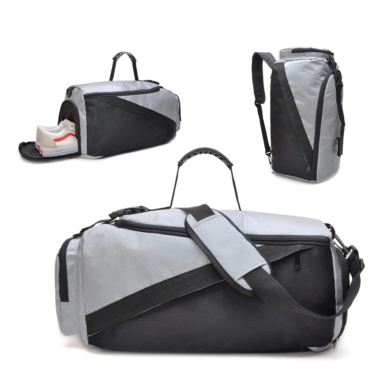 tuokener Sac de Sport Femme avec Compartiment Chaussures Sac léger pour Gym Sac en Bandoulière Week-End Duffle Bag Nylon Waterproof