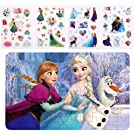 NEILDEN Disney Frozen Puzzles and Stickers, 60 Piece Jigsaw Puzzle for Kids Ages 4-8, Cute Foam Stickers Set for Toddlers and Children, Applying to Scrapbook, Teacher Reward,Party Favors (Elsa 2)