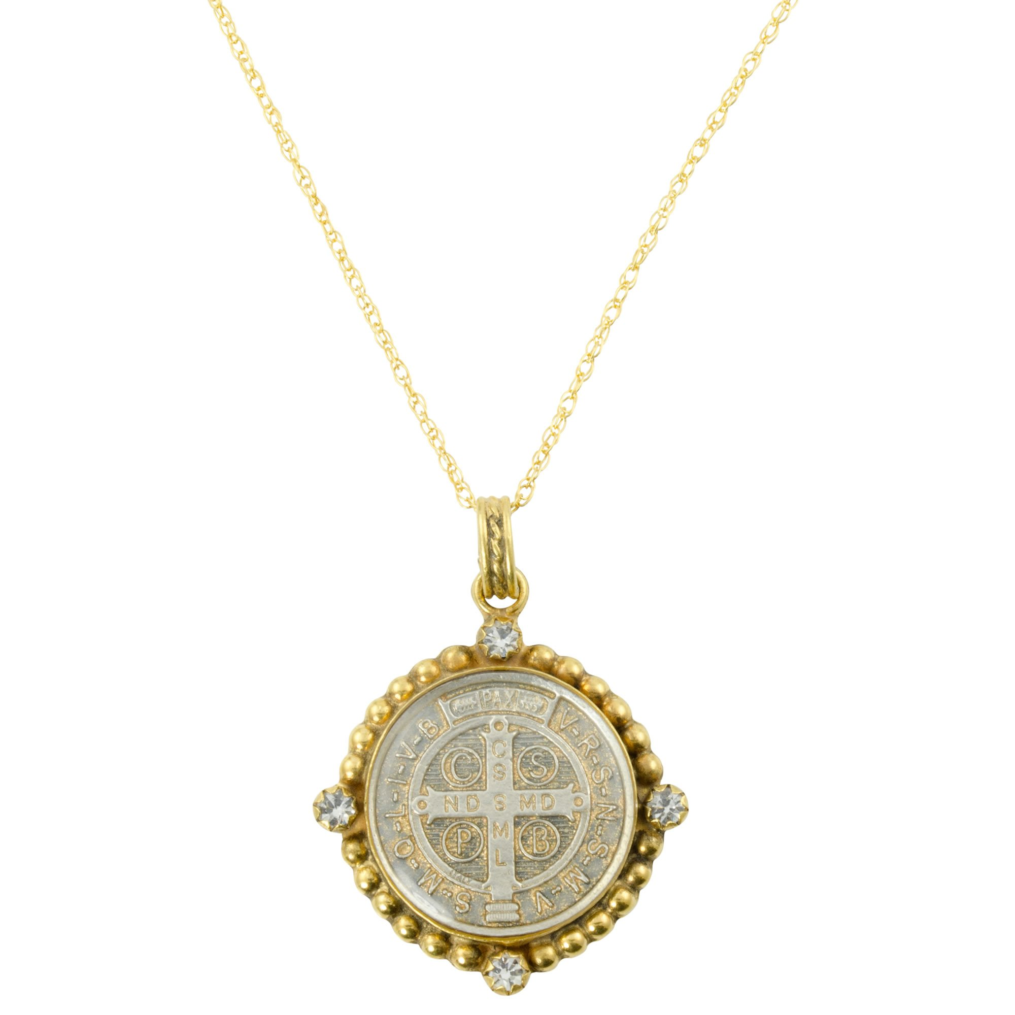 Santa Monica San Benito Choker Gold + Diamond Crystal - VSA - Virgins Saints Angels Jewelry