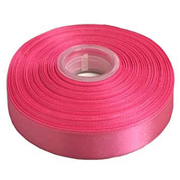 """5 Yards Hot Pink Textured Woven Ribbon 7//8/""""W"""