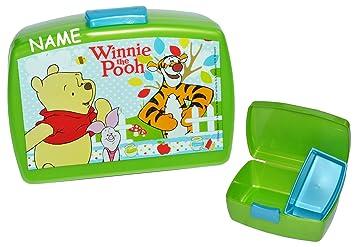 Brotdose Winnie Pooh - incl. Name - mit extra Einsatz - Brotbüchse ...