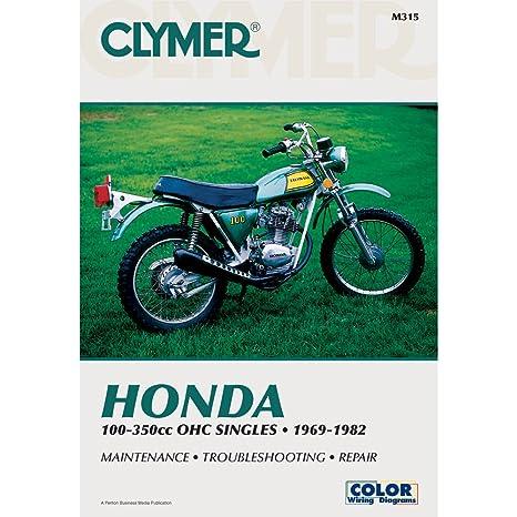 amazon com clymer honda 100 350cc manual m315 automotive rh amazon com 1970 Honda Cb125 Honda CB360
