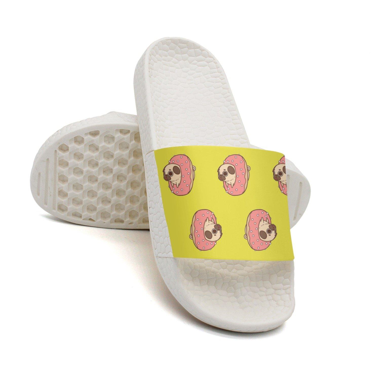 HSJDAPOCOAQ Cartoon Pug Dog Biscuits Summer Slippers For Men