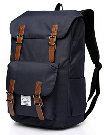 Amazon.com  Vaschy Water-resistant Hiking Daypack Travel School Backpack  Fits 15.6in Laptop Blue  VaschyDirect 047a4df0f4295
