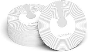 NFC Tag Sticker (10 Stück) selbstklebend vom Typ NTAG216 mit 888 Byte Speicher | 25mm Durchmesser | beschreibbar | funktioniert mit allen Android Smartphone NFC Apps | Near Field Communication Tags / Aufkleber