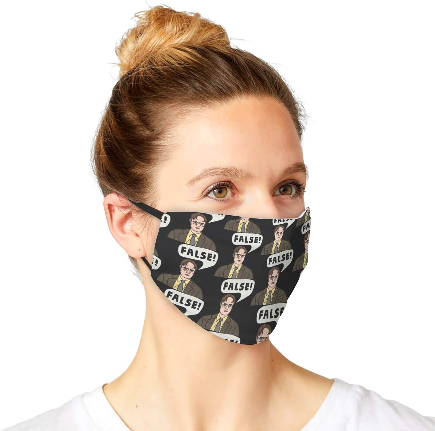 Air Pollution Anti Dust Sun Protective Accessories Women with Dwight Schrute The Office False Quote Design Cloth Face Covering for Men