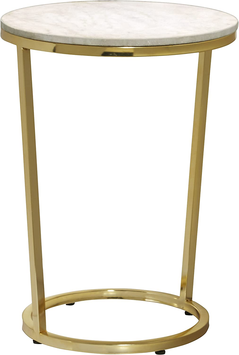 - Amazon.com: Pulaski Emory Marble Top Round Accent Table With Gold