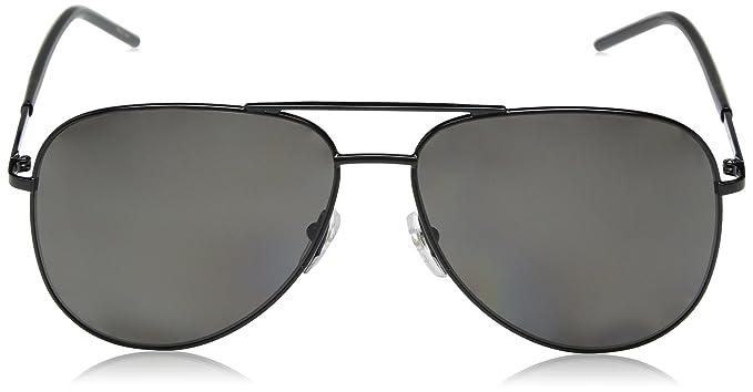 b7deb78f0 Amazon.com: Marc Jacobs Marc60s Polarized Aviator Sunglasses, Black, 59 mm:  Clothing