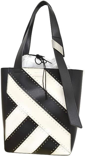 Calvin Klein Karsyn Sac fourre tout en cuir clouté Noir