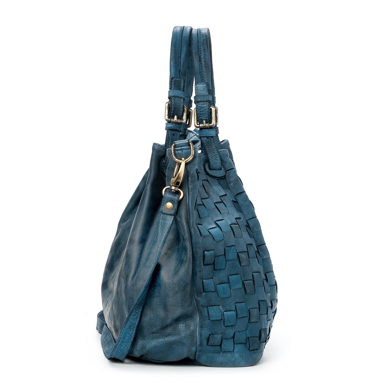 Italy Made Del Donna Borsa In Valle Vera Vintage Pelle Bag Intrecciata Modello Ira Caraibica Tqgzvwxg