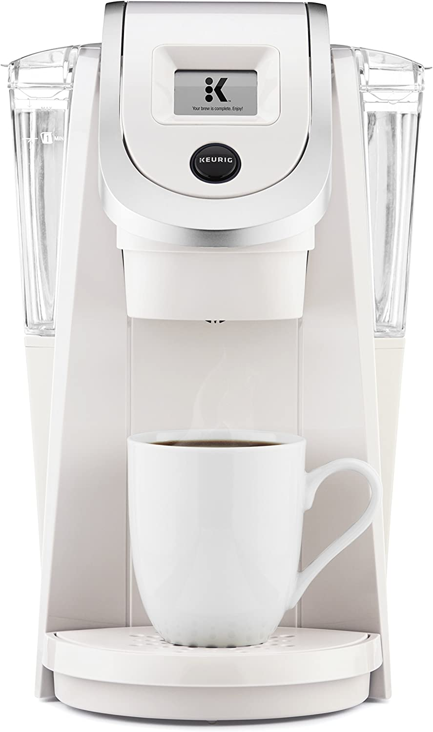 Keurig K200 Coffee Maker, Single Serve K-Cup Pod Coffee Brewer, With Strength Control, Sandy Pearl (Renewed)