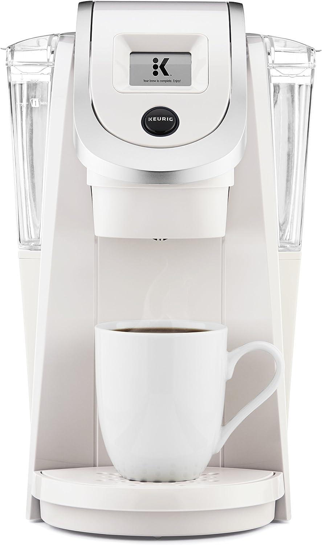 Keurig K200 Coffee Maker, Single Serve K-Cup Pod Coffee Brewer, With Strength Control, Sandy Pearl (Renewed)