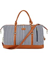 BAOSHA HB-14 Canvas Travel Tote Duffel Bag Carry on Weekender Overnight Bag Oversized for Women and Ladies