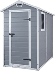 Keter Manor 4X6 S Shed- Caseta de jardín, con suelo, sistema de ventilación