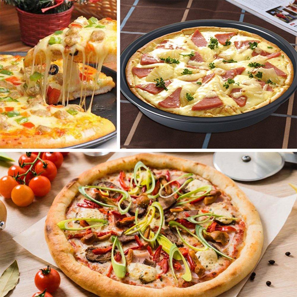 MyLifeUNIT - Plato de pizza de acero al carbono antiadherente ...