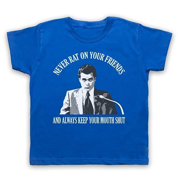 Inspiriert durch Goodfellas Never Rat on Your Friends Unofficial Kinder T- Shirt: Amazon.de: Bekleidung