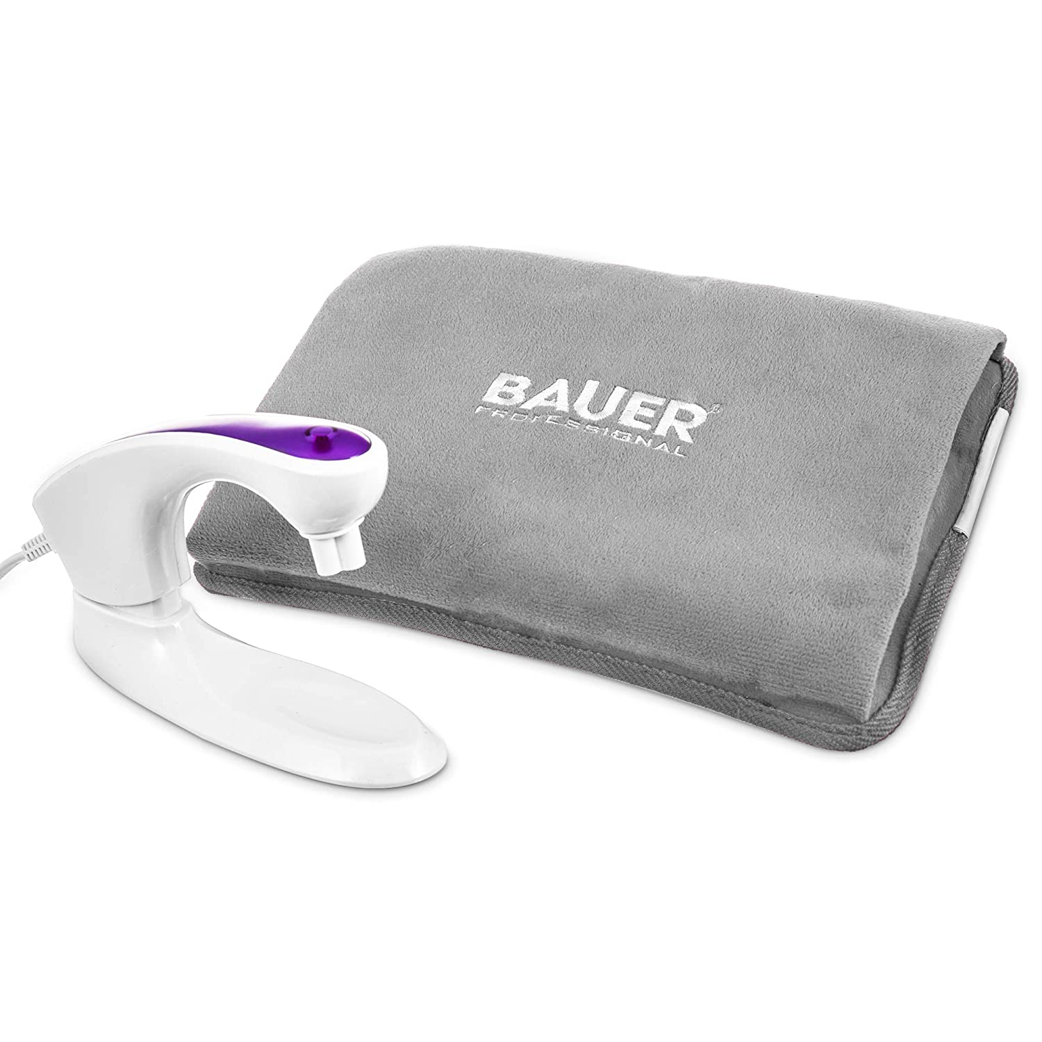 Hand Warmer Massaging Heat Pad with Soft Touch Hand Pouch Cover Soothing Aches /& Back Pain 15 Minutes to Charge Lilac - Purple Pre Filled Fineway Rechargeable Electric Hot Water Bottle