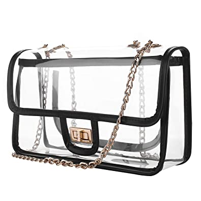 3cdde2793e23 D&S Crossbody Shoulder Clear Bag, NFL and PGA Stadium Approved Transparent  Bag for Sporting Events, Work, School Concerts
