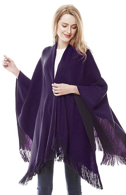 Shawls & Wraps | Vintage Lace & Fur Evening Scarves Lovful Women Winter Warm Cashmere Feel Poncho Capes Scarf Shawl Cardigans Sweater Coat $19.99 AT vintagedancer.com