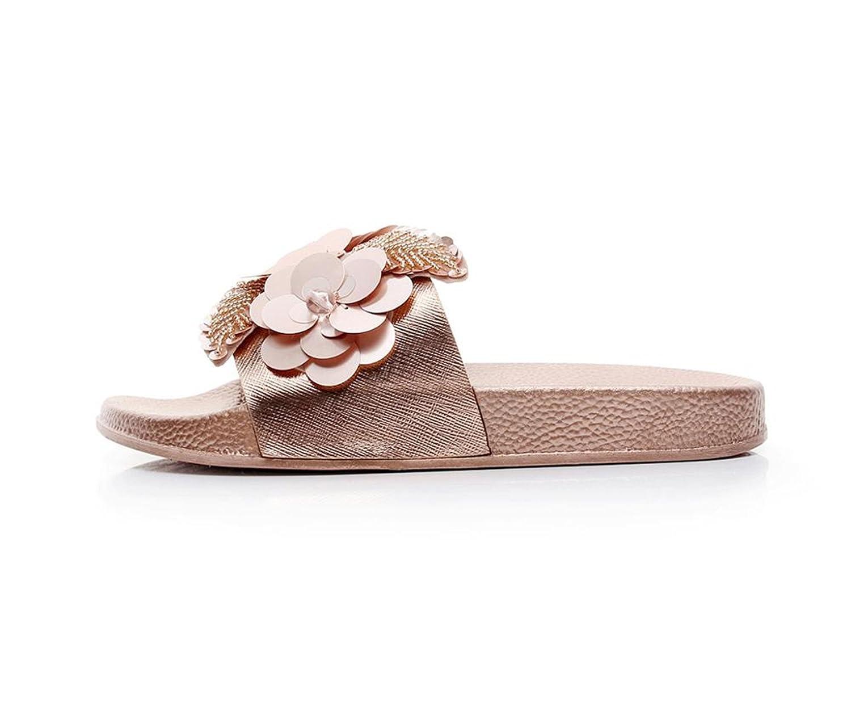 b831adf40b Amazon.com | Joddie Haha Sandals Gold Sliver Flats Slides Bling ...