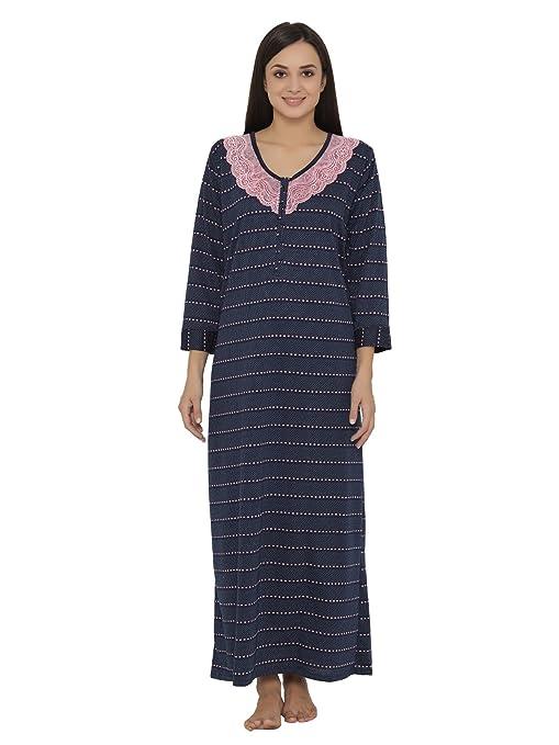 57f8f567fe Clovia Women s Woolen Patterned Nighty With Lace Yoke Nightdresses