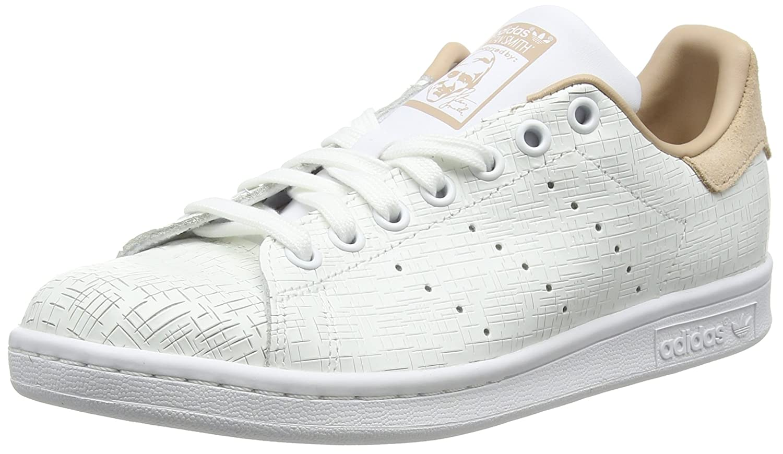 Adidas Stan Smith W, Zapatillas de Deporte para Mujer 37 1/3 EU|Blanco (Footwear White/Footwear White/Ash Pearl 0)
