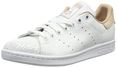 adidas Stan Smith, Baskets Femme, Blanc (Footwear White/Footwear White/Ash