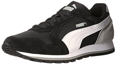 PUMA Men's ST Runner NL Black/White/Limestone Gray Sneaker 4.5 D (M