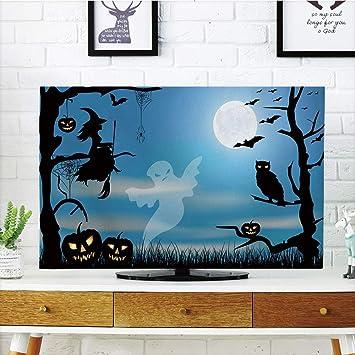 Cubierta de polvo para televisor LCD, personalizable, Halloween ...