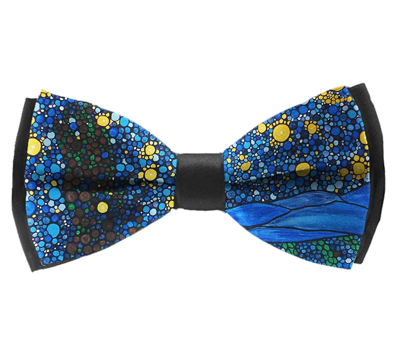 Bow Tie for Men Tuxedo /& Wedding Solid Color Gogh Starry Night