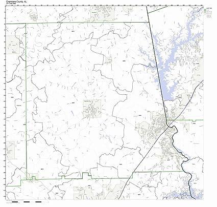Amazon.com: Chambers County, Alabama AL ZIP Code Map Not ...