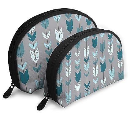 4387e1546506 Amazon.com: DHSJWIEU23 Arrow Feather- Teal Blue Grey Portable Bags ...
