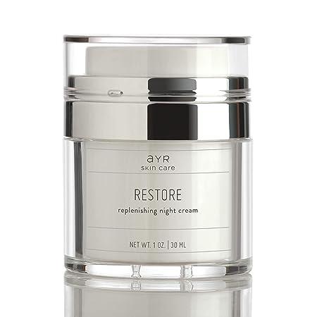 Ayr Skin Care Restore Night Cream Powerful Anti Aging Formula with Peptides, Probiotics, and Vitamin C 1 fl oz