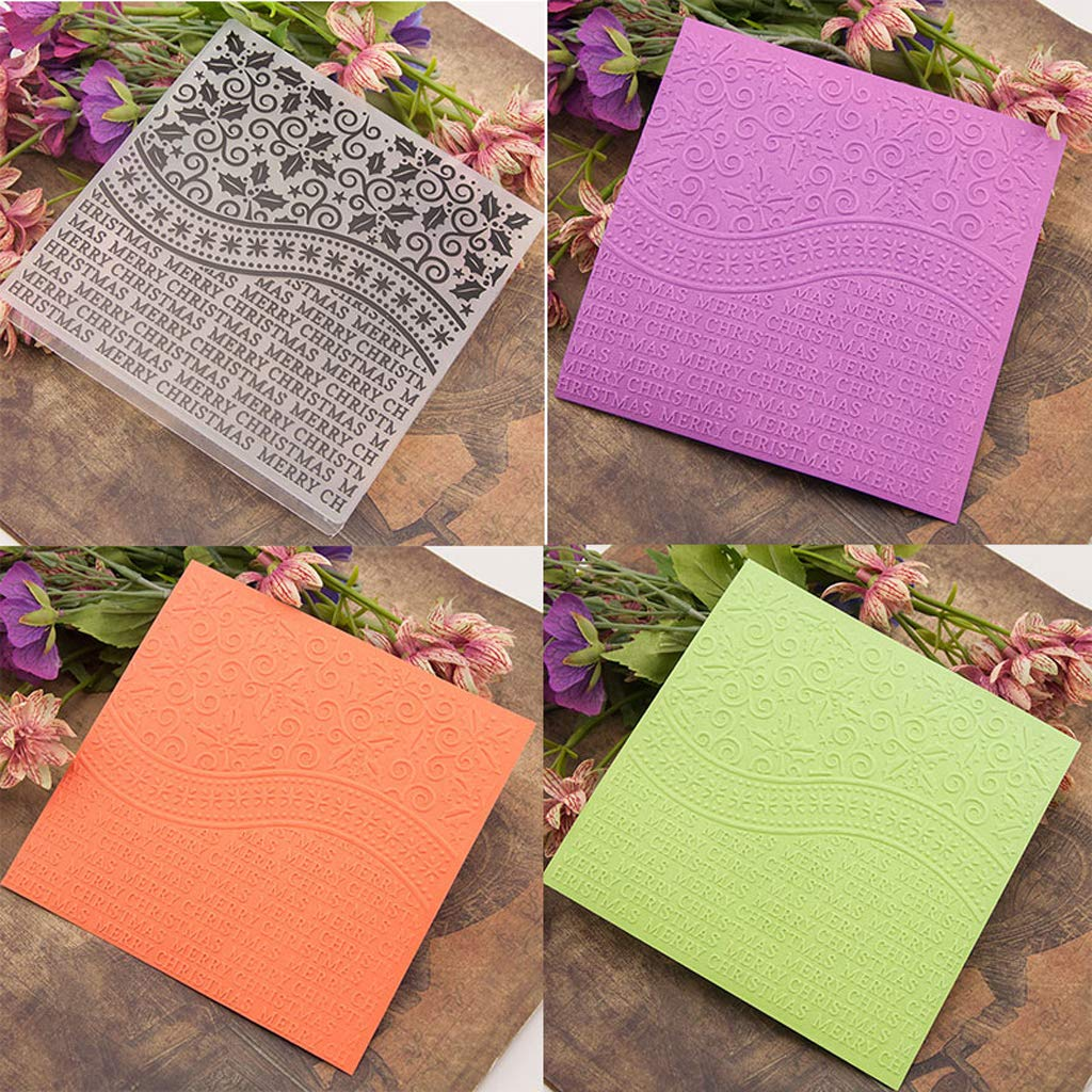 CH Happy Birthday Plastic Embossing Folders For DIY Scrapbooking Paper Craft//Card Making Decoration Supplies