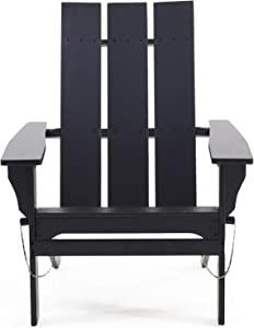 Christopher Knight Home 312650 Aberdeen Outdoor Contemporary Acacia Wood Foldable Adirondack Chair, Black