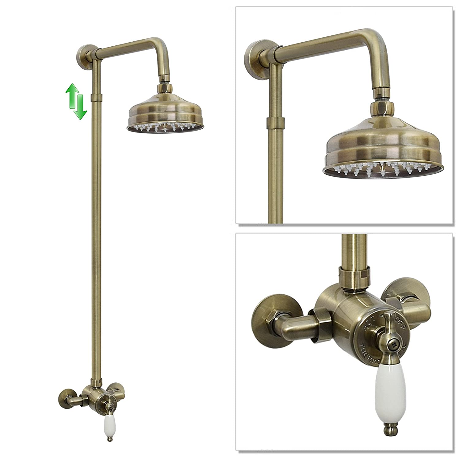 ENKI Sequential Thermostatic Shower Set Classic 150mm Antique Bronze WINCHESTER