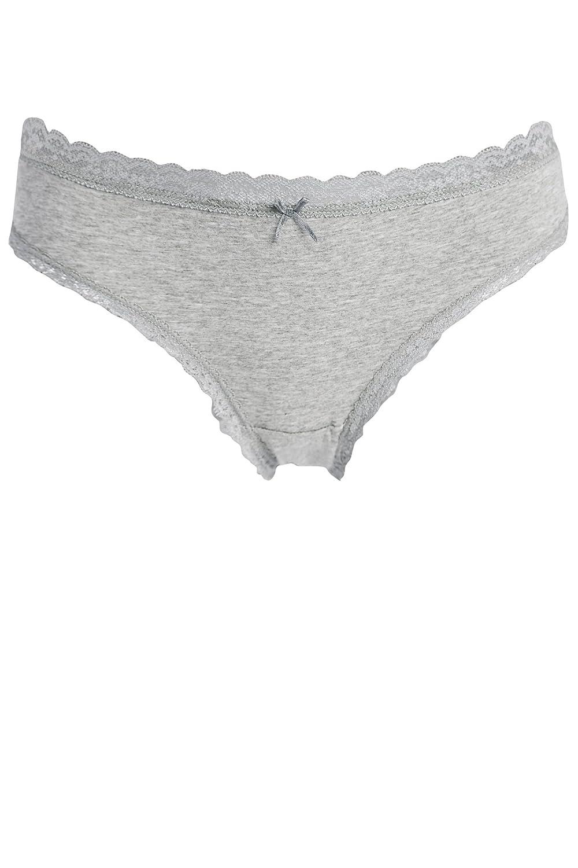 bb255aa4cc3 Anfilia Womens Cotton Knickers Pack lace Knickers Medium Waist Bikini Brief  Underwear Daily Lingerie L  Amazon.co.uk  Clothing